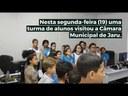 Alunos da escola Abrão Rocha visitam Câmara Municipal de Jaru